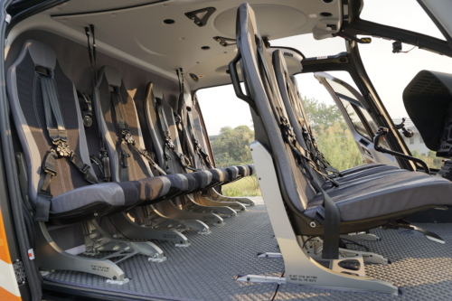 helicopter EC130 (seats)